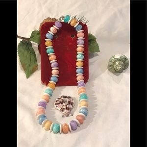 Vintage beaded marble necklace
